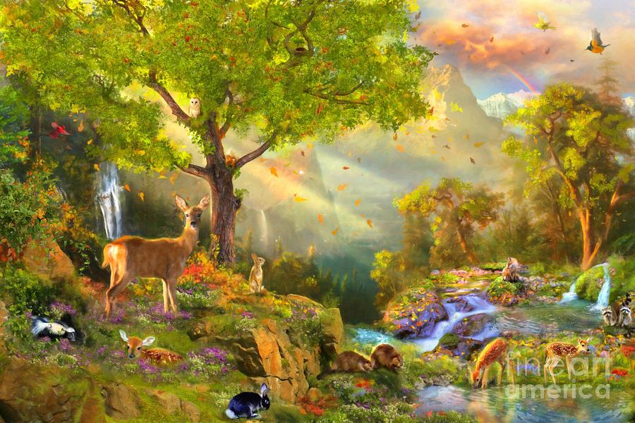 Aimee Stewart Digital Art - Fawn Mountain by Aimee Stewart