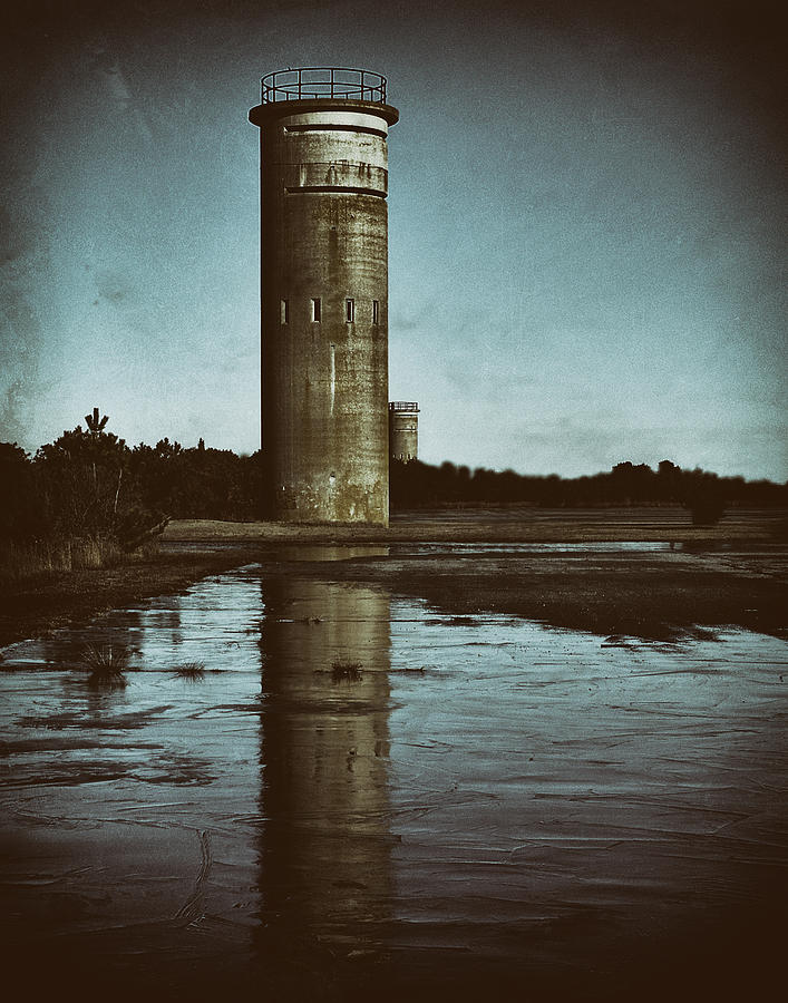 Fort Miles Photograph - Fct3 Fire Control Tower Reflections In Sepia by Bill Swartwout Photography
