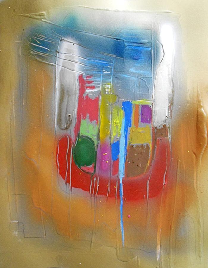Non-figurative Painting - Fd269 by Ulrich De Balbian