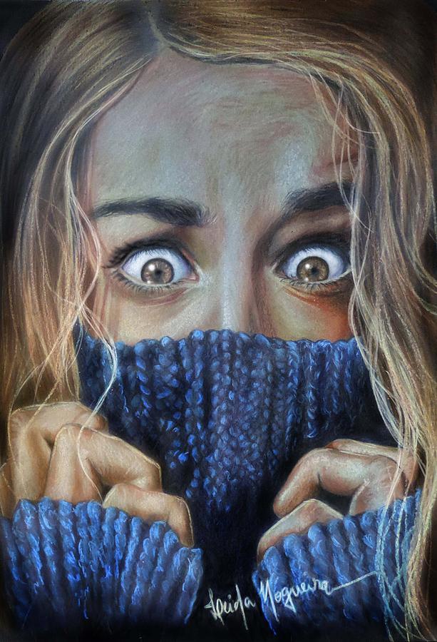 Fear Drawing - Eyes by Leida Nogueira