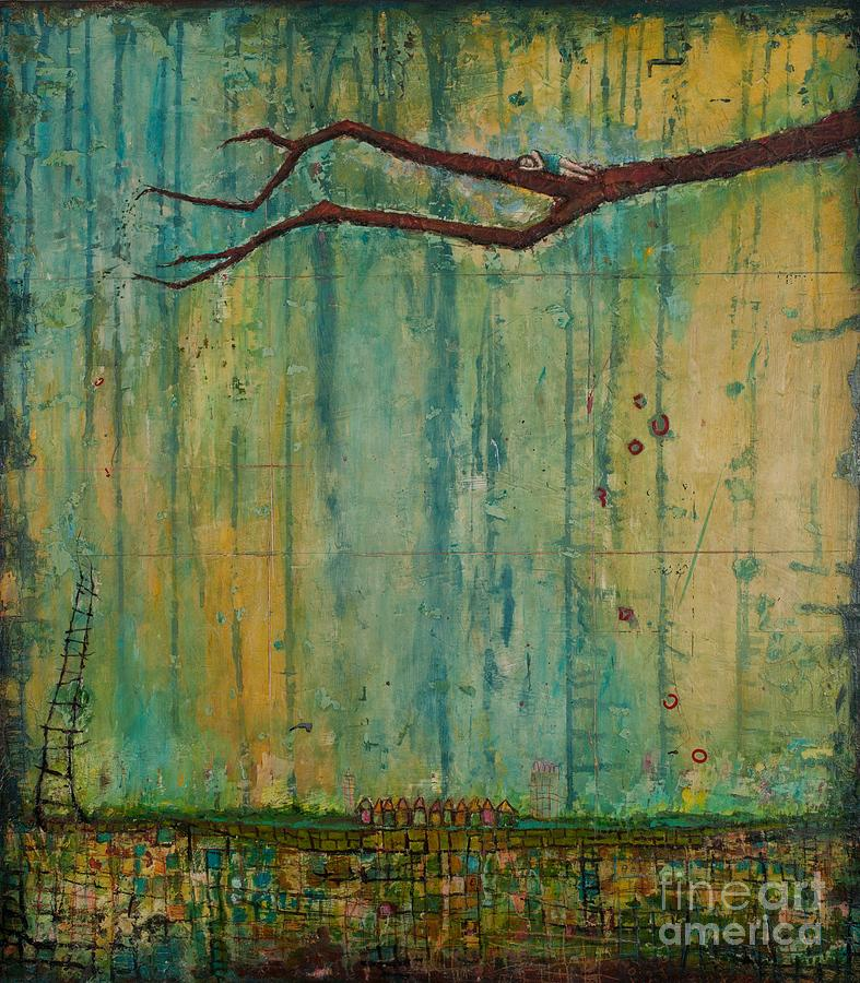 Nature Painting - Fear of Heights by Sandra Dawson