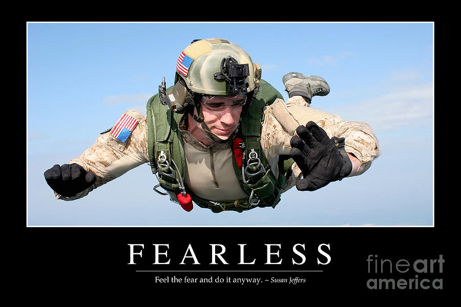 Fearless Inspirational Quote Photograph