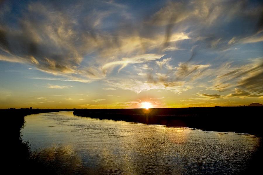 Sunset Photograph - Feathered Sunset by Ramona Murdock