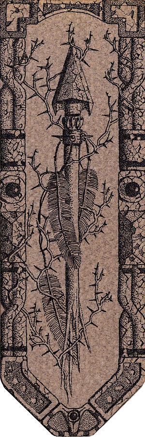 Broken Arrow Photograph - Feathers Thorns And Broken Arrow Bookmark No1 by Weston Westmoreland