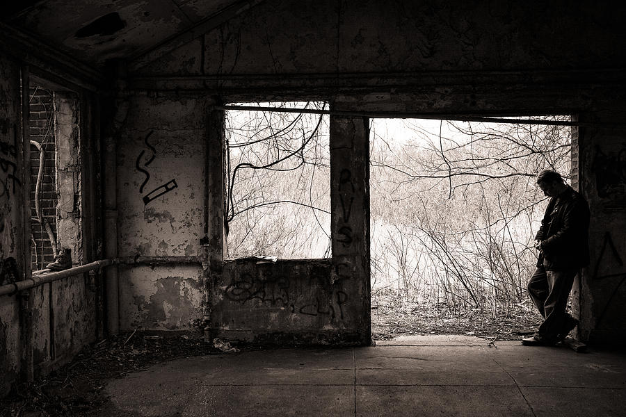 Abandoned Photograph - February - Comfortable Seclusion - Self Portrait by Gary Heller
