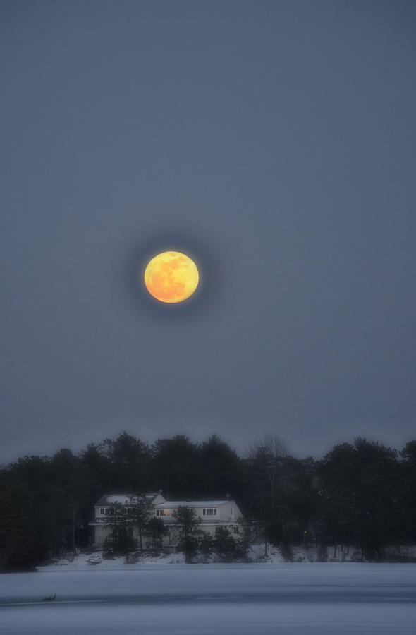 Moon Photograph - February Full Moon by Beth Sawickie