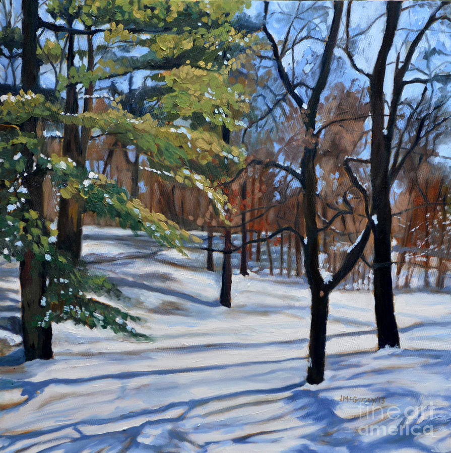Winter Landscapes Painting - February by Joan McGivney