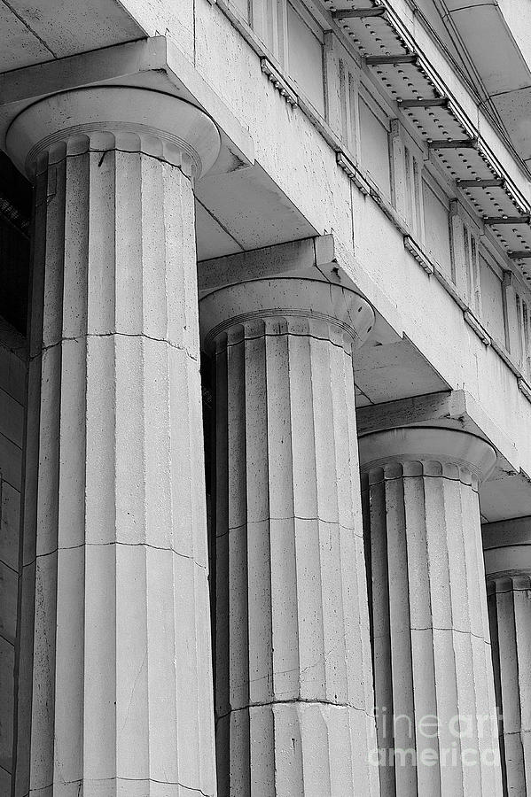 Columns Photograph - Federal Hall Columns by Jerry Fornarotto