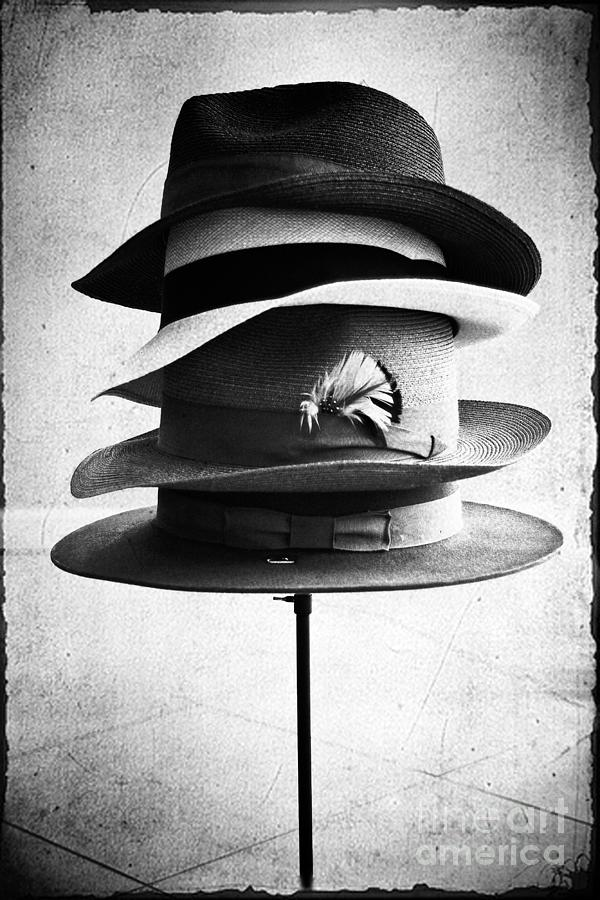 Fedoras Photograph - Fedoras by Janis Lee Colon
