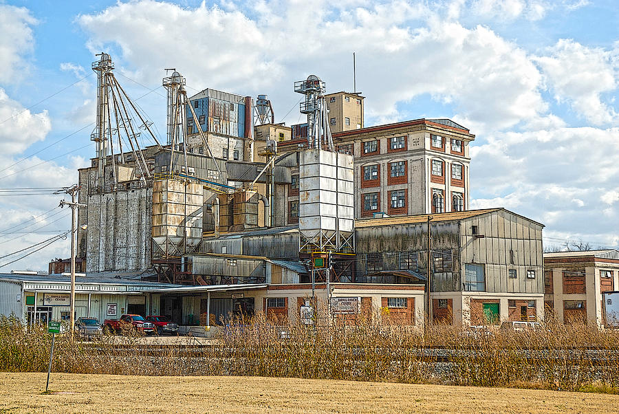 Feed Mill Photograph - Feed Mill Hdr by Charles Beeler