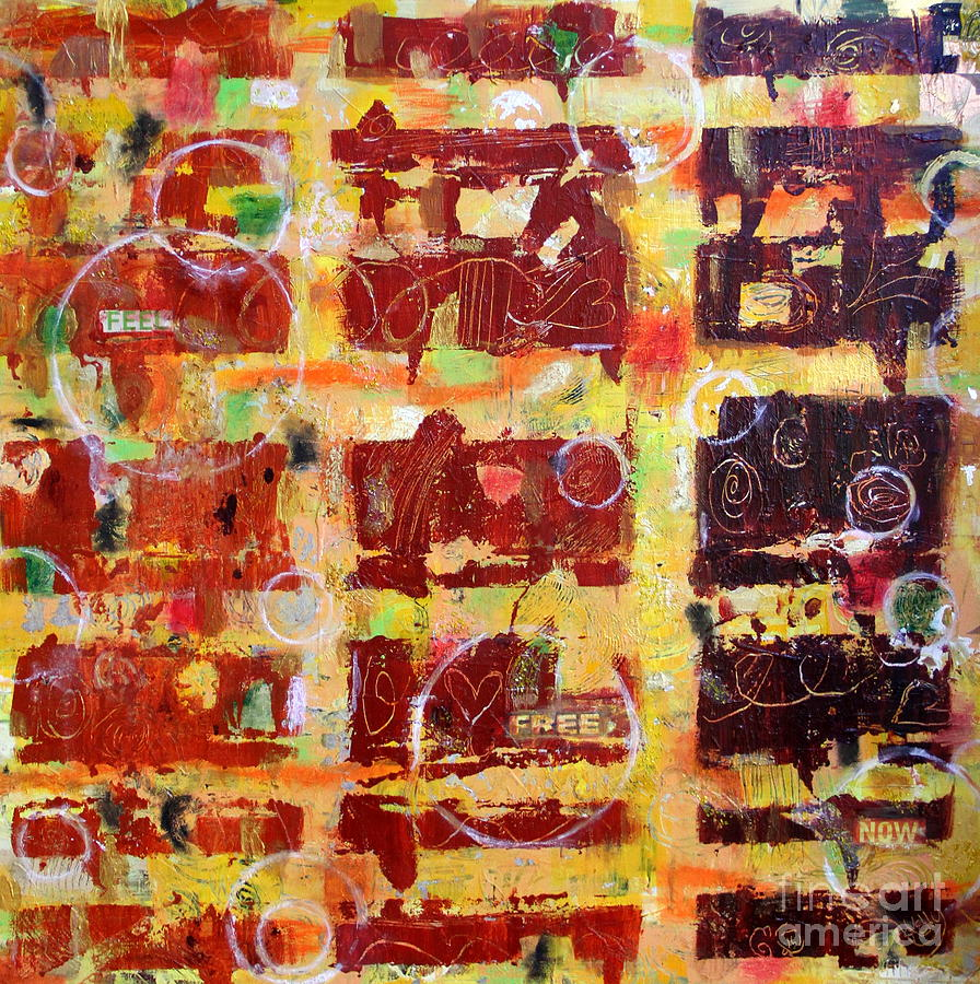 Colorful Abstract Mixed Media - Feel Free Now by Kelly Athena
