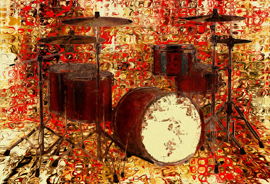 Tuba Painting - Feel The Drums by Jack Zulli