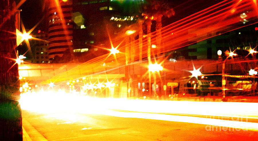 Downtown Photograph - Feel You From The Inside by Kyle Walker