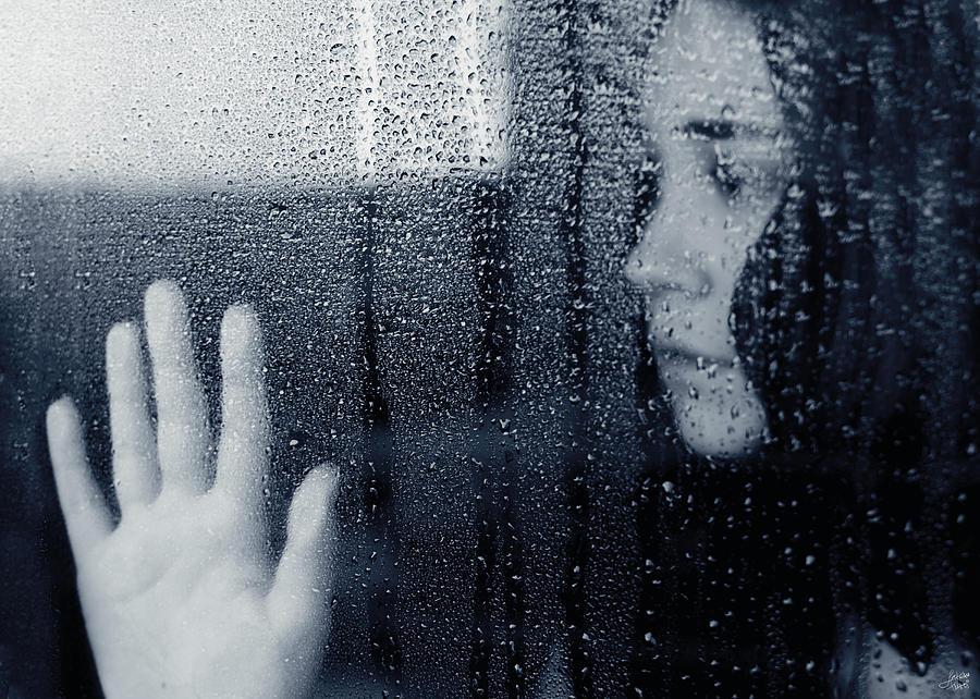 Rain Photograph - Feeling Blue by Lisa Knechtel