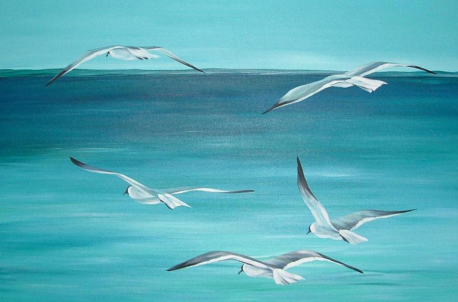 Sea Painting - Feeling Free by Natasha Denger
