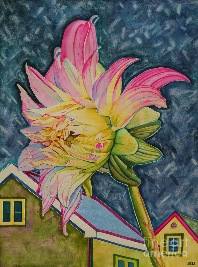 Floral Painting - Feeling Good In The Moonglow by Christine Belt