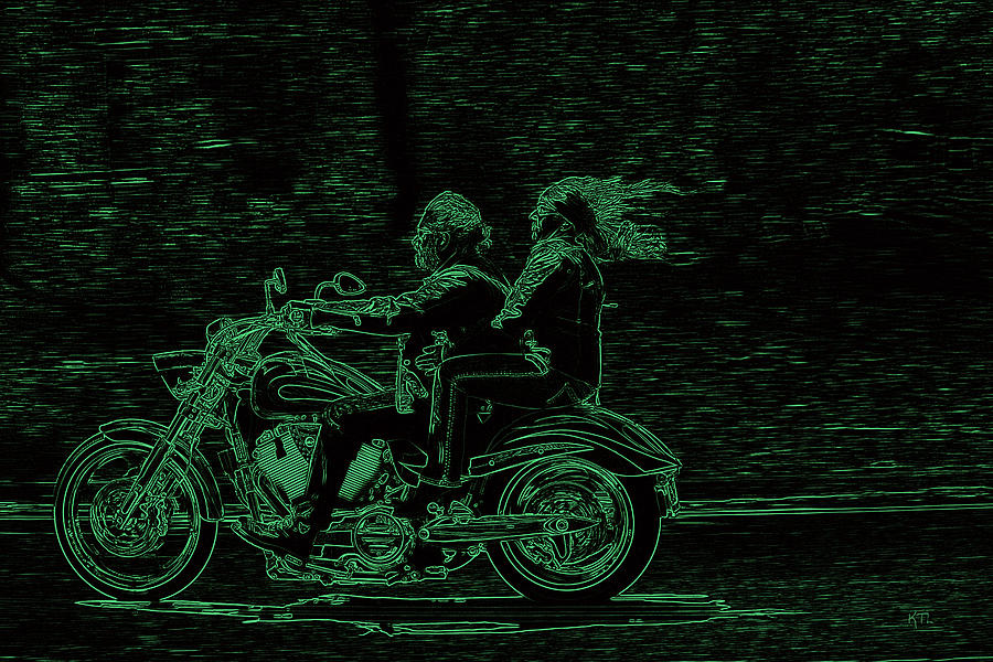 Motorcycling Photograph - Feeling The Ride by Karol Livote