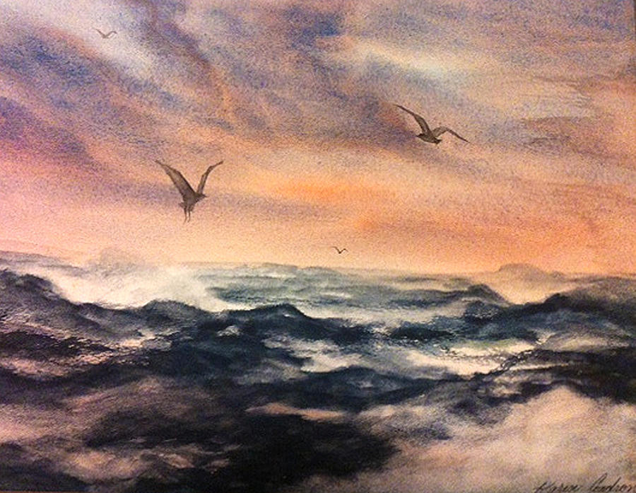 Feeling The Winds Love Painting by Karen  Condron