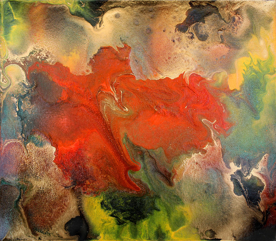 Abstract Painting - Feelings Eruption by Julia Fine Art And Photography