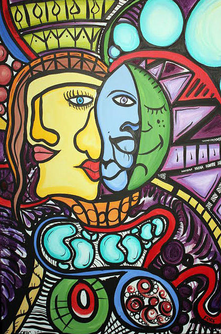 Picasso Painting - Feelings Faces by Fore Lima and Carroll