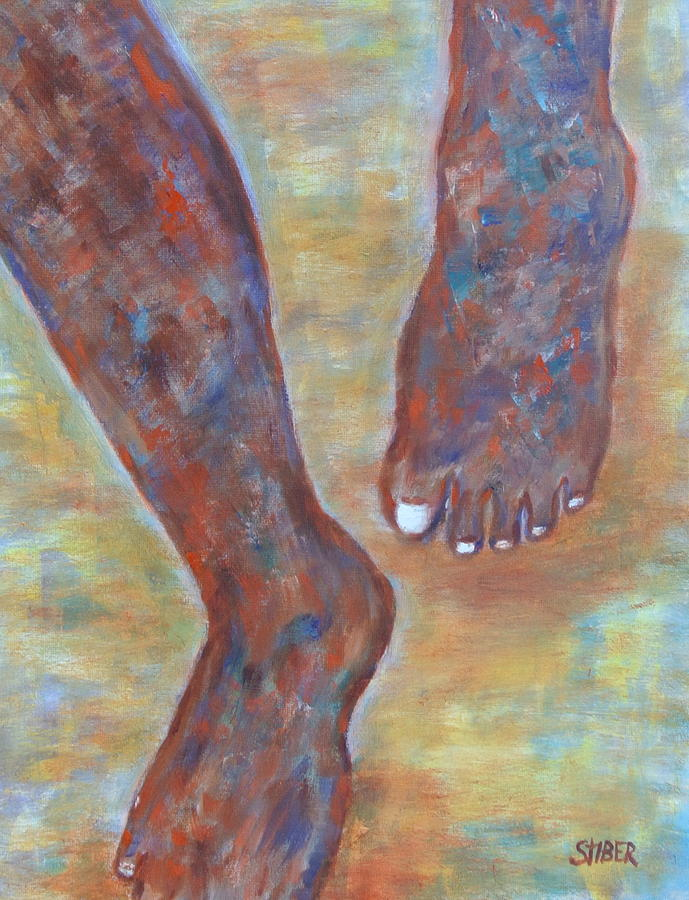 Feet Painting - Feet First by Kathy Stiber