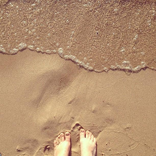 Feet Photograph - Feet On The Beach by Christy Beckwith