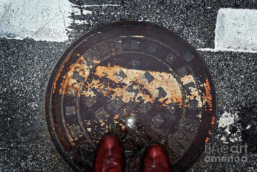 Feet On The Street Photograph