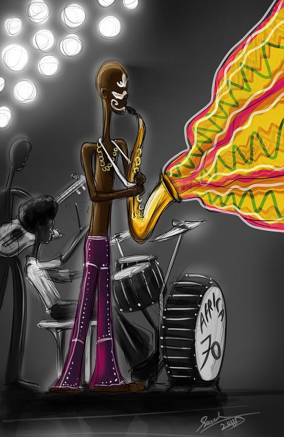 Fela Kuti Digital Art - Fela Afrobeat Kuti by Sasank Gopinathan