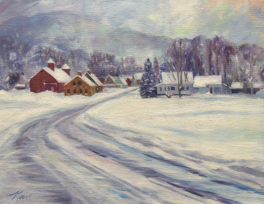Felchville Village in the Snow by Nancy Griswold