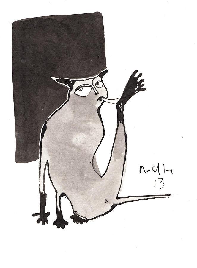 Ink Drawing - Feles No. 3 by Mark M  Mellon