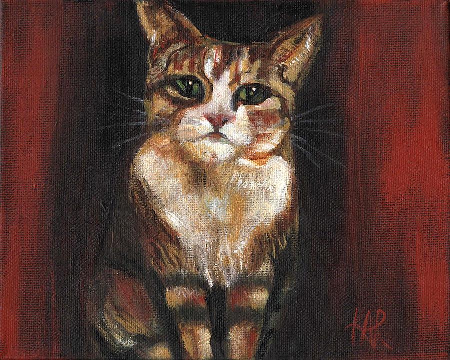 Cat Painting - Feline by Art by Kar