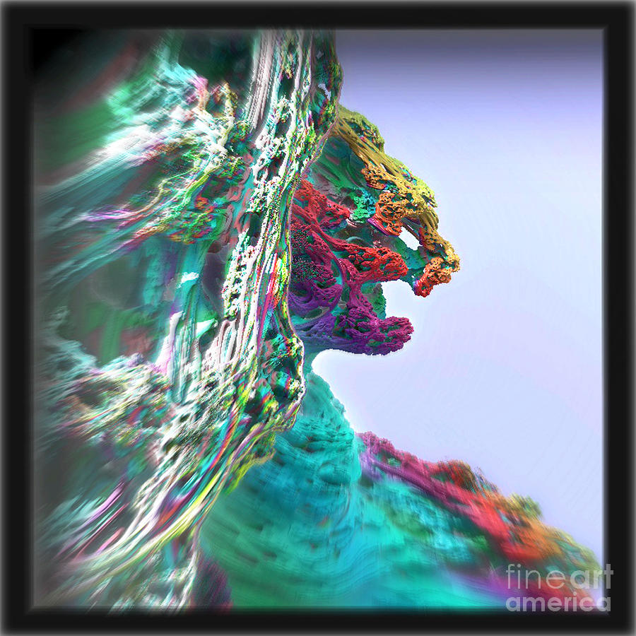 Feline Digital Art - Feline Cliff Face by Kevin Martin
