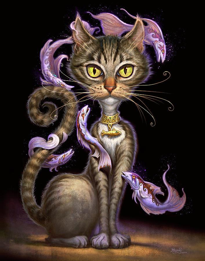 Cat Painting - Feline Fantasy by Jeff Haynie