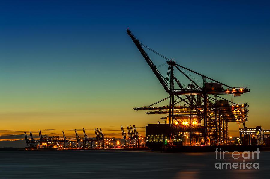 Bay Photograph - Felixstowe Docks by Svetlana Sewell