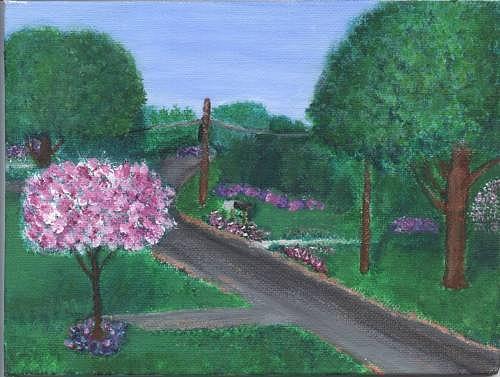 Plein Aire Painting - Fellowship  by Sheila Mashaw