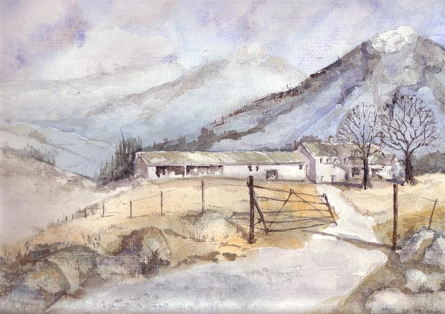 Fells Farm Painting by David  Hawkins