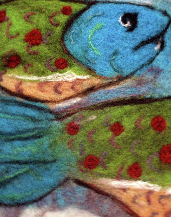 Felt Tapestry - Textile - Felt Fish by Jill Dodd