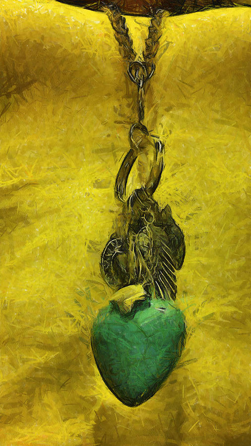 Felt Tip Digital Art - Felt Tip Turquoise Heart by Lorri Crossno