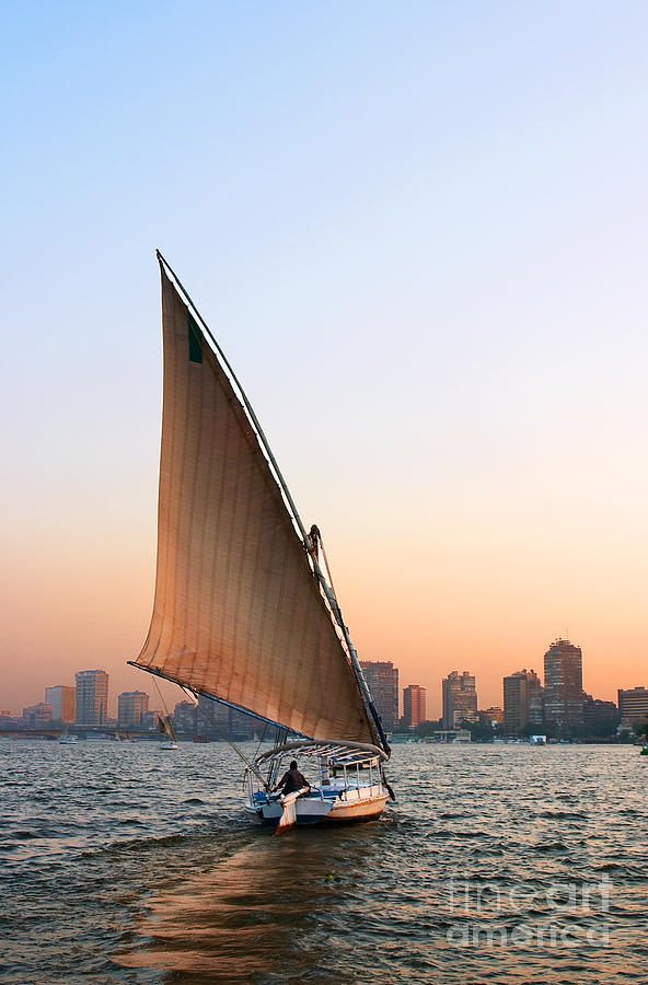 Felucca on the Nile by Paul Cowan