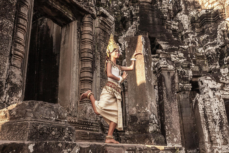 Female Apsara Dancer, Standing On One Photograph by Cultura Exclusive/gary Latham