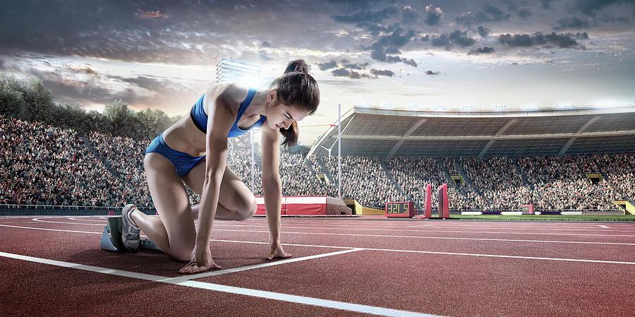 Female Athlete Prepares To Run Photograph by Dmytro Aksonov