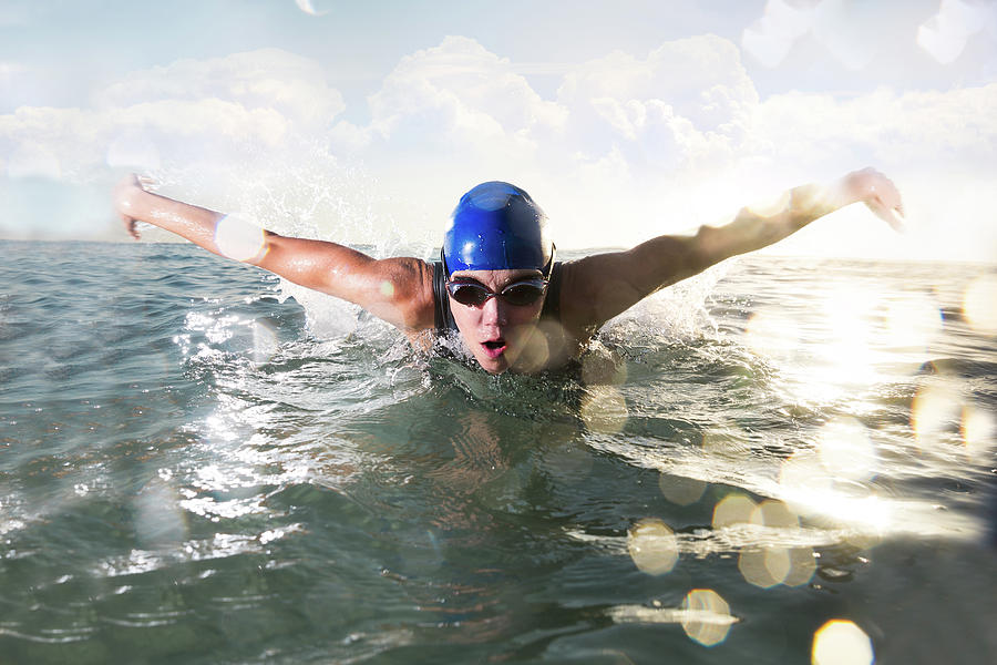 Female Butterfly Stroke Swimmer Photograph by Amr Image