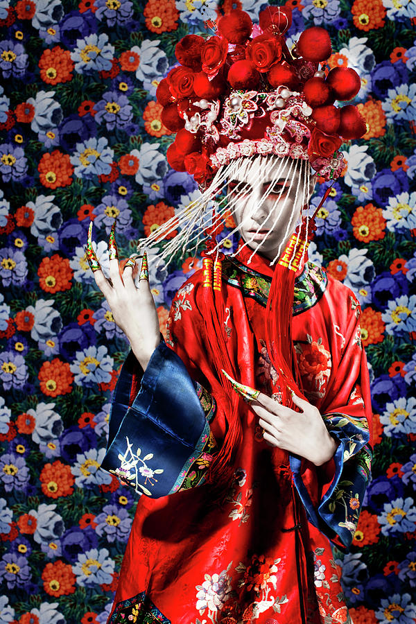 Female Dancing In Traditional Chinese Photograph by Mimi  Haddon