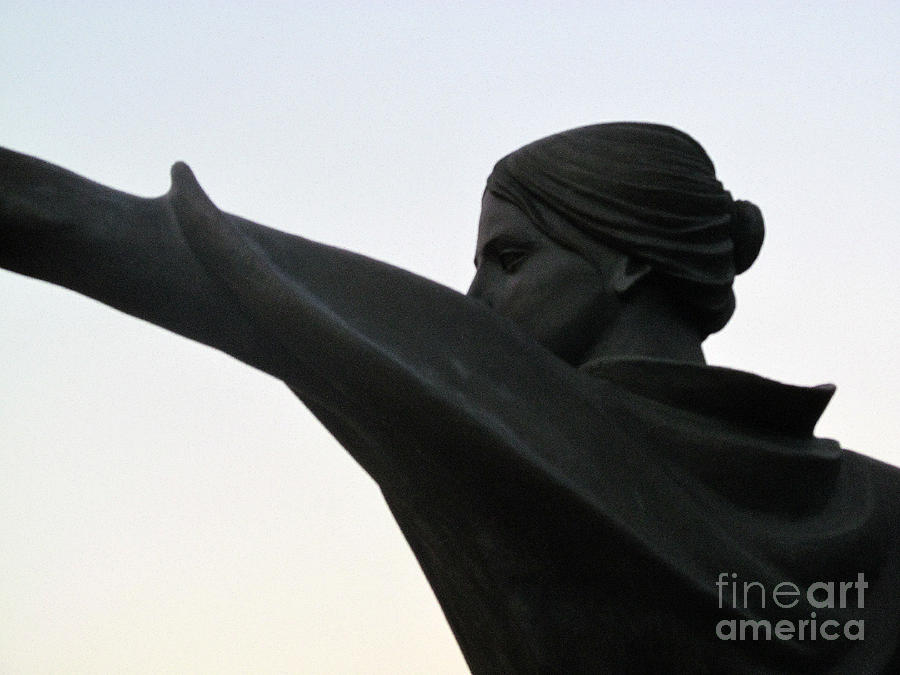 Sculpture Photograph - Female Educator Reaching Out Two by Tina M Wenger