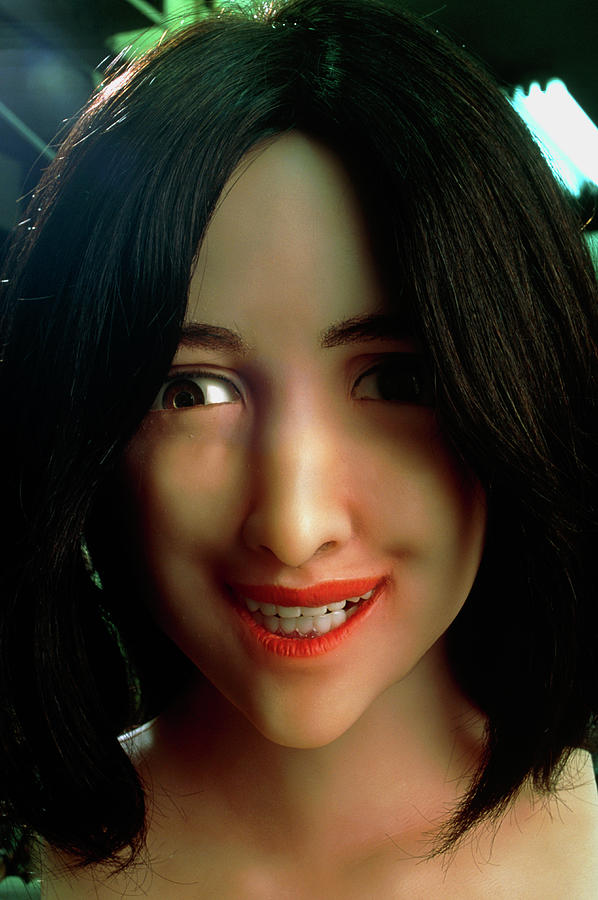Android Photograph - Female Face Robot by Peter Menzel/science Photo Library