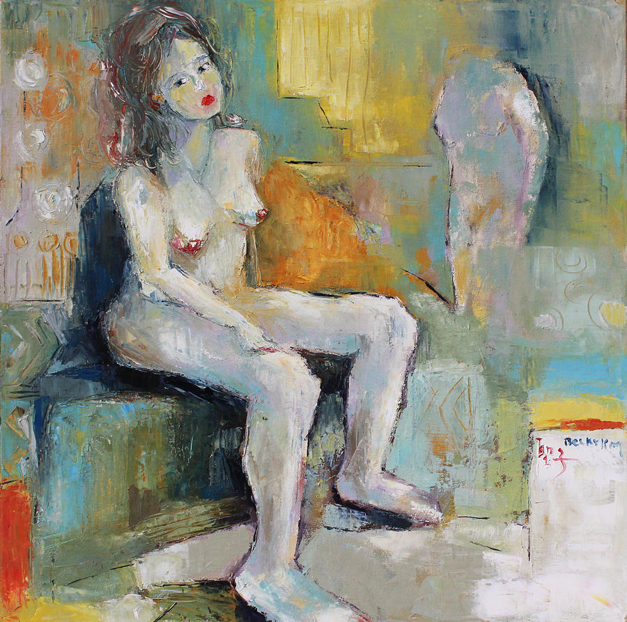 Nude Painting - Female Nude 2 by Becky Kim