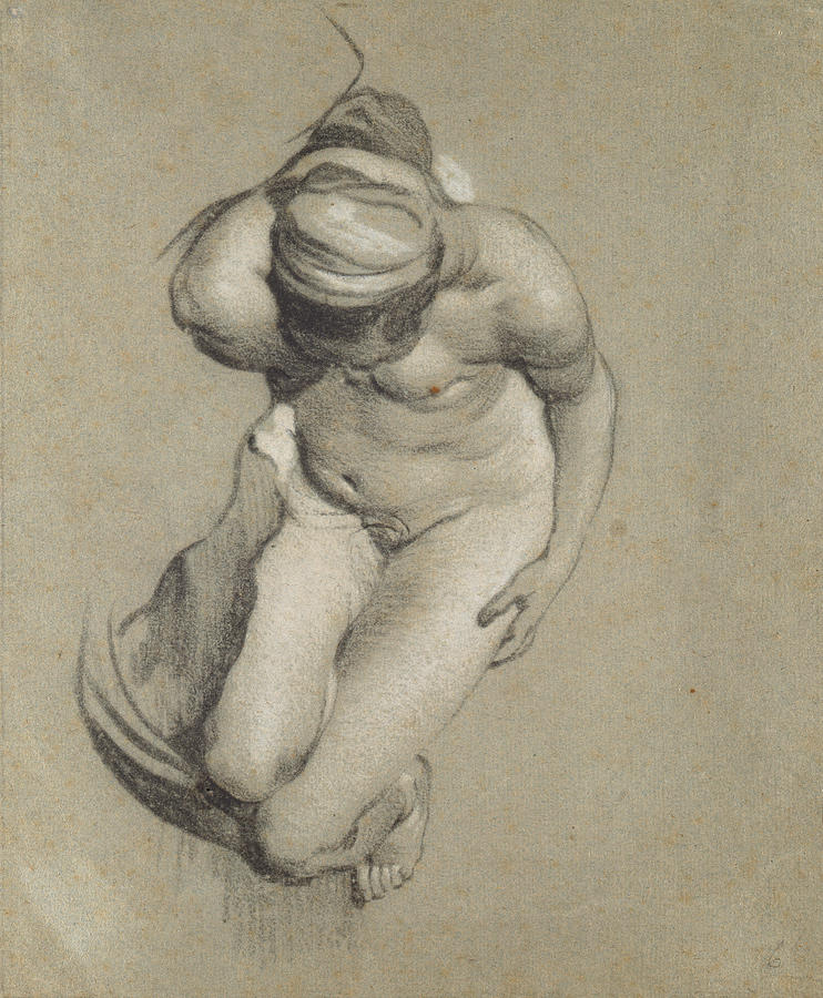 Woman Drawing - Female Nude  by Jacob Adriensz Backer