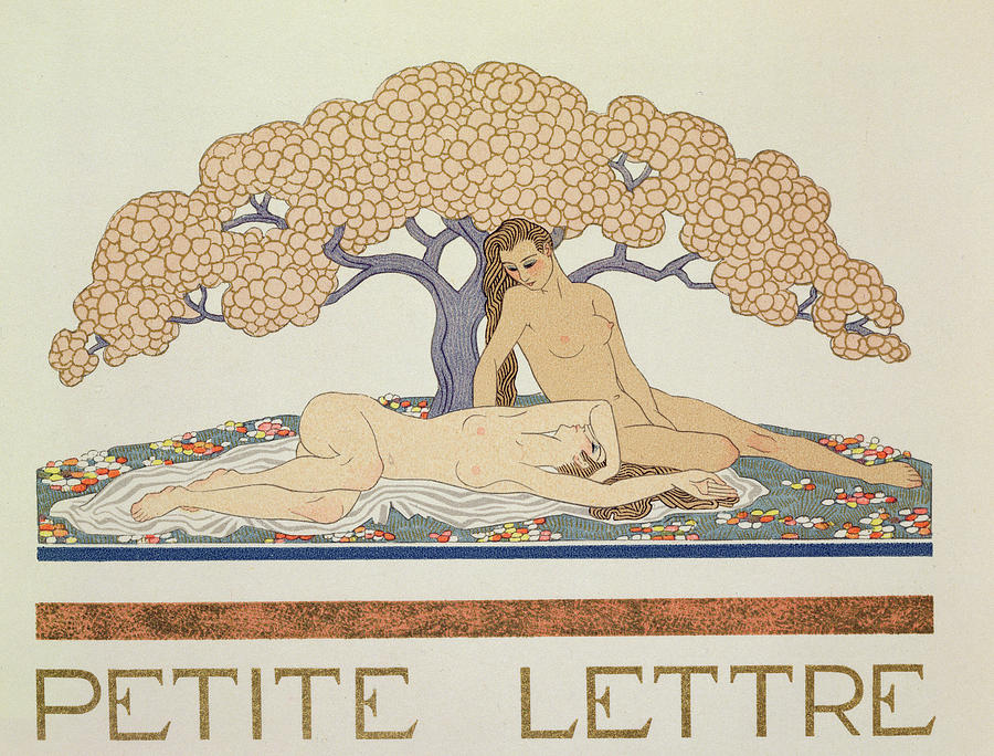 Nude Painting - Female Nudes by Georges Barbier