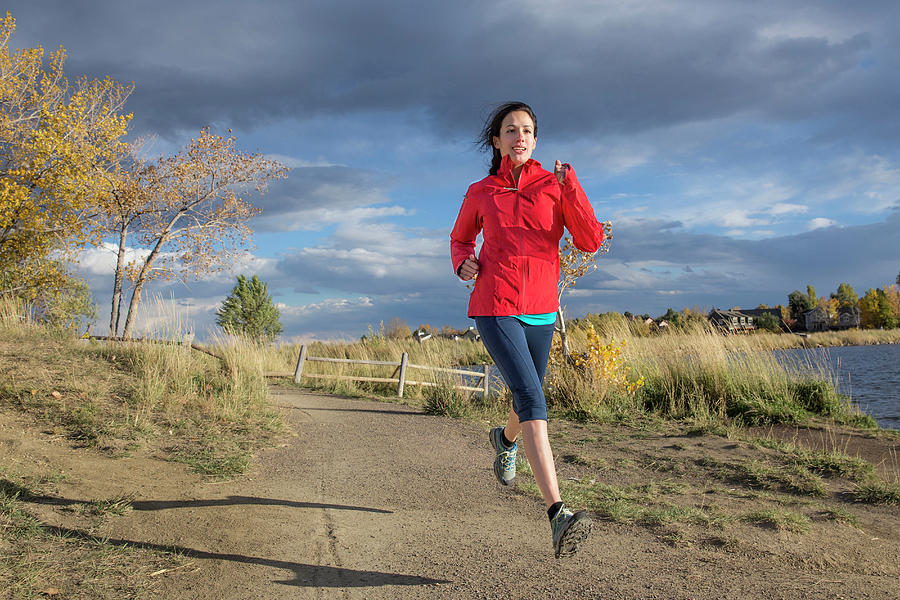 Healthy Lifestyle Photograph - Female Runner In Colorado by Alexandra Simone