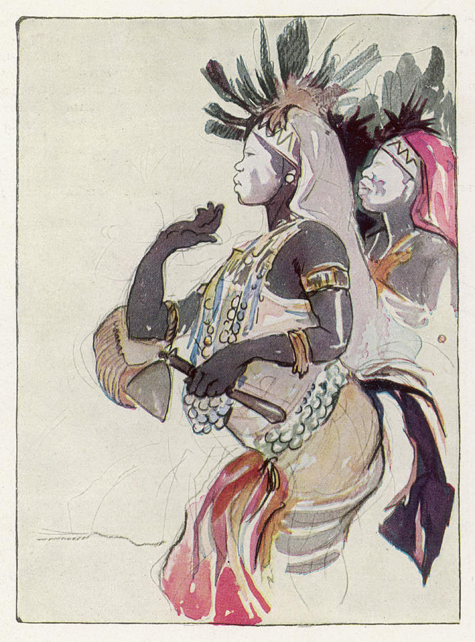 Female Witch Doctor Of The Usumbura Drawing By Mary Evans Picture Library